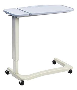 NRS Healthcare Easylift – Elevador Overbed/mesa auxiliar para silla (moderno azul n43589 Altura