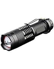 Mini LED-ficklampa 5 W 350 Lumens vattentät CreeTorch zoombart uppladdningsbart batteri 14500