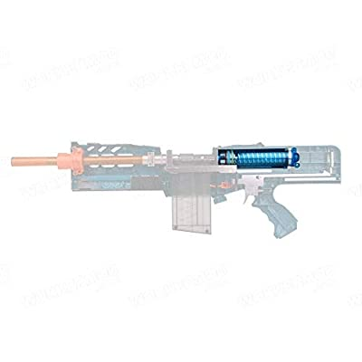 WORKER Plunger Chamber Kits Blue Tansparent for Nerf Zombie Strike Longshot CS-12 Toy: Toys & Games