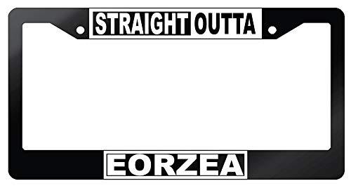 GSF Frames Straight Outta Eorzea Glossy Black Plastic License Plate Frame Final Fantasy (Frame License Fantasy)