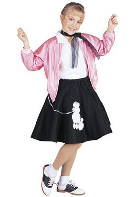 RG Costumes 50's Pink Lady Jacket, Child Medium/Size 8-10 - Ladies Jacket Costumes