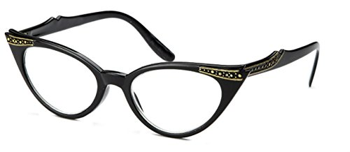 WebDeals - Cateye or High Pointed Eyeglasses or Sunglasses (Black, - Glasses Cat Eye Vintage