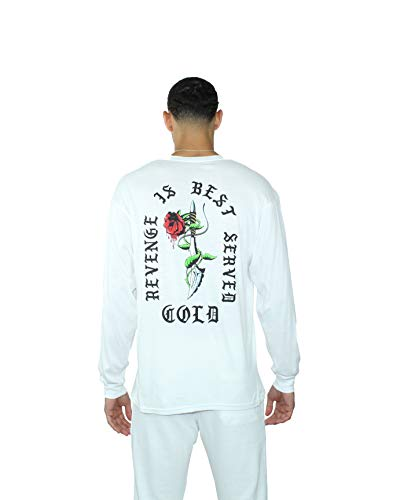 Franchise Luxe-Athleisure Revenge is Best Served Cold Long Sleeve (White, Medium)