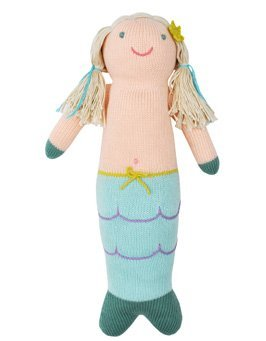 Blabla Harmony The Mermaid Plush Doll - Knit Stuffed Animal for Kids. Cute, Cuddly & Soft Cotton Toy. Perfect, Forever Cherished. Eco-Friendly. Certified Safe & Non-Toxic.