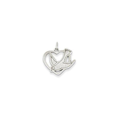 Roy Rose Jewelry 14K White Gold Peace Bird Charm (Bird Gold White)