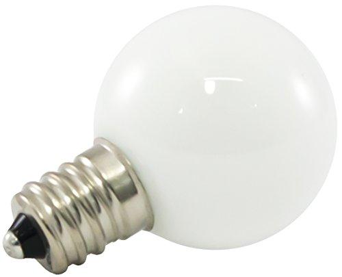 mmable LED G30 Opaque Globe Light Bulbs, E12 Candelabra Base, 2700K Warm White, 25-Pack ()