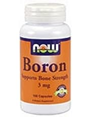 Boron, 3 mg, 100 Caps by Now Foods (Pack of 4)