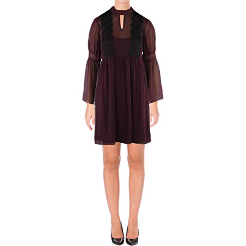 - Jessica Simpson Women's Solid Baby Doll Dress, Plum, 4