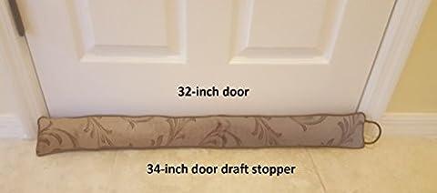 Door Draft Stopper 34 inches Heavy Duty Durable Door / Window Draft Blocker- Storage Bag (Draft Door Blocker)