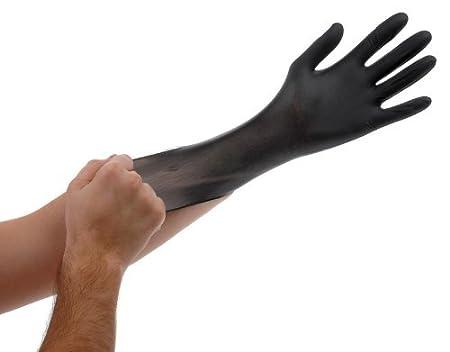 100-Pack Atlantic Safety Products ASPBLL Black Gloves Large KBS Coatings