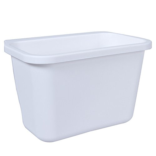 White Color Kitchen trash can waste container ambry storage box desktop junk ()