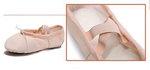 Antidérapant Eu Chat 27 Ballet amp;y Size Bas Chaussures Yoga Danse De Pour Cuir Man Griffe Toile color 7 Fille Femmes En 7q8Rw