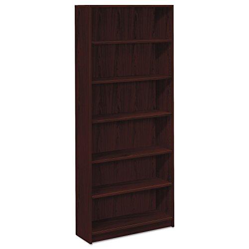 2 Shelf Mahogany Hutch (HON 1870 Series Bookcase, 6 Shelves, 36 W by 11-1/2 D by 84 H, Mahogany)