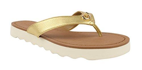 e586ea8c5534 Coach Shelly Women Open Toe Leather Flip Flop Sandal - Import It All