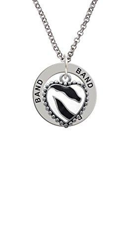 Zebra Print Enamel Ring (Enamel Zebra Print Heart - Band Affirmation Ring Necklace)