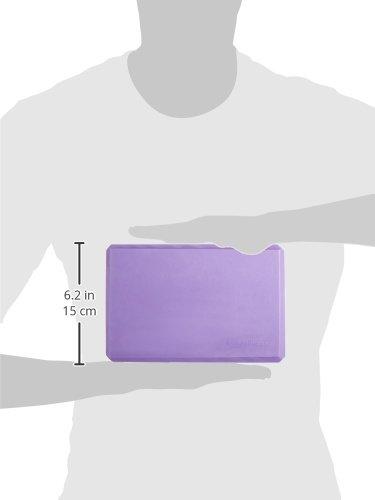 AmazonBasics Foam Yoga Blocks - 4 x 9 x 6 Inches, Set of 2, Purple by AmazonBasics (Image #7)