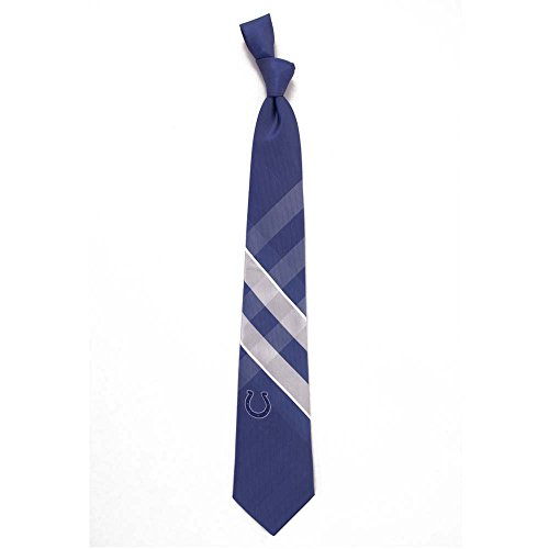 Eagles Wings NFL Indianapolis Colts Men's Woven Polyester Grid Necktie, One Size, Multicolor