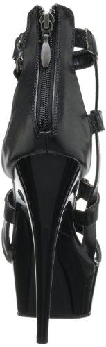 Pleaser - Sandalias mujer, color negro, talla 40 (7 UK)
