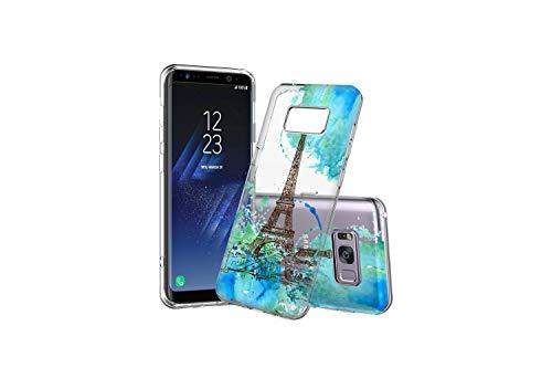 Koldan Eiffel Tower Phone Case Samsung Note 8 Note 9 S8 S9 Samsung A30 A50 Paris Art Silicone Case S8 Plus S9 Plus S10 Plus Clear Cover S10 5G S10e France Watercolor Case M30 A9 A8 Plus A7 ap69 ()