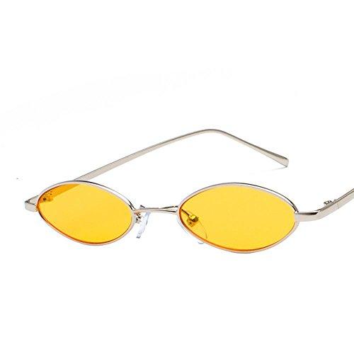 Aoligei Retro lunettes de soleil métal art bord mince eau lunettes de film océan gouttelettes ovale lunettes de soleil G