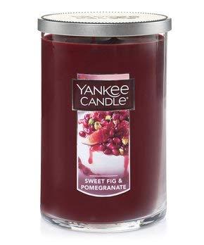 Festive Vanilla Fig - Yankee Candles Sweet Fig & Pomegranate 2-Wick Large Tumbler,Festive Scent