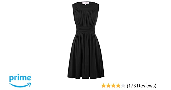 Belle Poque Sleeveless A-Line Women s 1950s Vintage Dress Cocktail Dress at  Amazon Women s Clothing store  f0f73e1b26a3