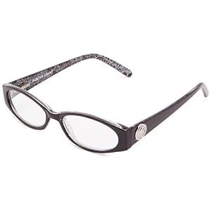 Foster Grant Women's Ava Oval Reading Glasses,Black,52 mm/+ 1.5