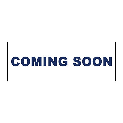 (Coming Soon Blue METAL ALUMINUM Real Estate Rider Sign - 1 or 2 Side Print /6 in x 24 in One Side Print)