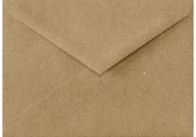 Lee BAR Envelopes (5 1/4 x 7 1/4) - 100% Recycled - Grocery Bag Brown (50 Qty.)