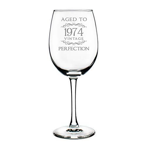 1974 45th Birthday Gifts Wine Glass for Women