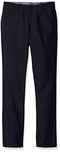 U.S. Polo Assn. Big Girls' Twill Pant (More Styles Available), Skinny Navy-IJVCA, ()