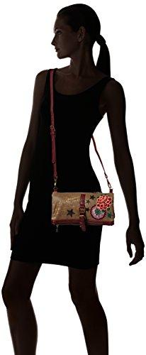 Hombro Braun Marron Mujer Desigual Sucio SMELBOURNE de Material BOLS Camila de 6052 Bolso Marrón sintético XZPwq