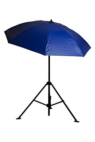 Lapco FR LAP-UM7VBX Heavy-Duty Construction Umbrella, Vinyl, No Case, 7 , Blue