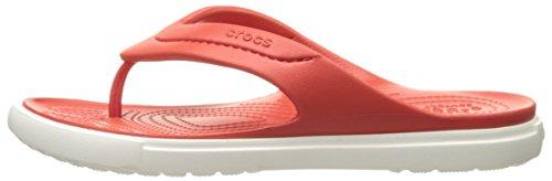 Rosso flame Crocs 43 Infradito white Flip 44 Adulto Unisex Classic XxgBO