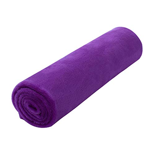 """uxcell Pet Dog Blanket, Flannel Fleece Puppy Blanket Solid Plush Warm Rug Blankets and Throws for Small-Medium Dogs Cats Doggy Sleeping Mat, Purple, 27"""" x 39"""" (70 x 100 cm) ()"""