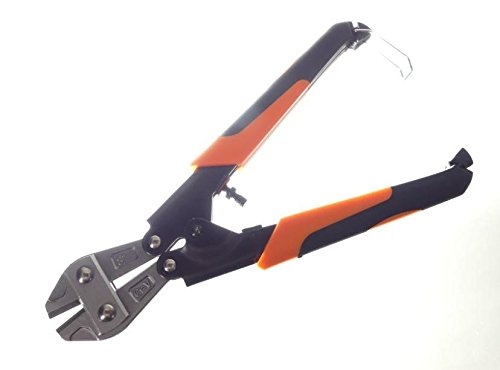 "Tech 8"" Mini-Bolt Cutter, Wire, Cable, Chain, Spring Loaded Return, Comfortable Grips, Snips, Hand Tools, 8-inch"
