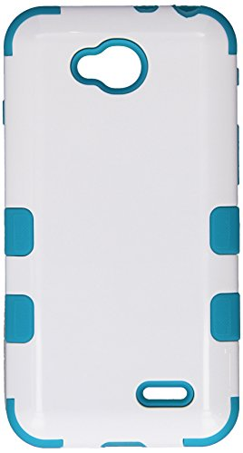 Asmyna TUFF Hybrid Phone Protector Cover for LG D415 Optimus L90 - Retail Packaging - Ivory White/Tropical - A Lg Case For L90