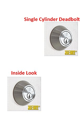 4 Sets of Keyed Same Door Knob and Double Cylinder Deadbolt, Satin Stainless Steel