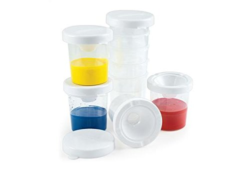 No-Spill White Lid Paint Cups - Set of 10 (Item # 10WPC)