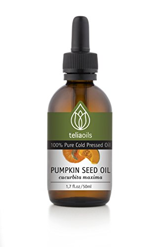 Pumpkin Seed Oil - 100% Pure Cold Pressed, Virgin. Emollient Oil Rich in Vitamins A, C, E and K and Zinc 1.7 Oz / 50 Ml