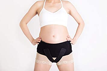 Baby Belly Band - Pregnancy & Maternity Belt with Small Compression Groin  Band - for Back, Hernia, and