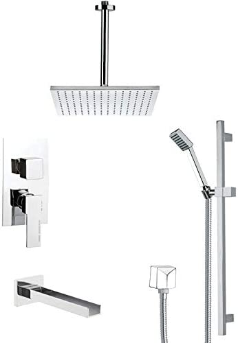 11.5 L x 10 W Remer TSR9097 Galiano Pressure Balance Tub and Shower Faucet