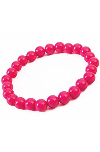 Hot Pink Big Pearls Bracelet Costume Accessory 2017