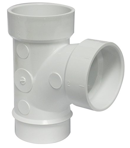(Canplas 195152L PVC DWV Street Sanitary Tee, 2-Inch, White)