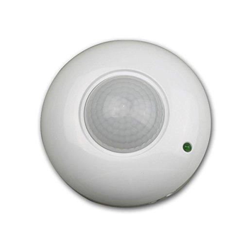 Kanlux - Detector de movimiento para techo (360º, rango de 9 m), color blanco: Amazon.es: Iluminación