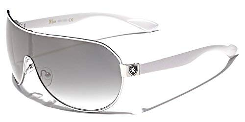 Mens Flat Top Sport Shied Aviator Sunglasses - Multiple ()