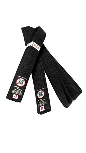 (Ronin Deluxe Cotton Black Belt for Karate, Judo, Tae Kwon Do, Aikido, Jujitsu Martial Arts)