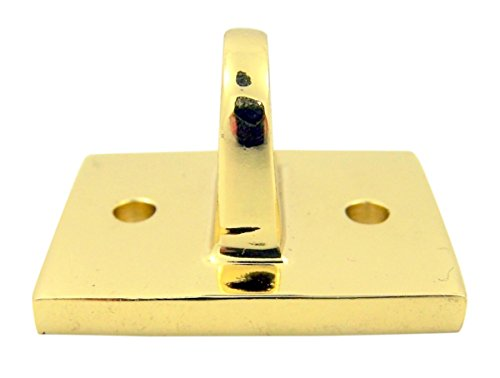 High Polished Brass Replacement Bracket for Permanent Pew Rope, 1 1/2 Inch (Bracket Permanent)