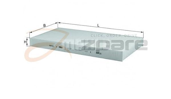 MILPAR Filtro de salpicaderos Combo (71 _) 1.4 16 V/Combo Furgón/Break 1.7 DI 16 V: Amazon.es: Coche y moto