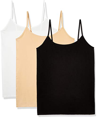 - Layla's Celebrity 3 Pack Women's Seamless Basic Layer Camisole Top Nylon Spandex